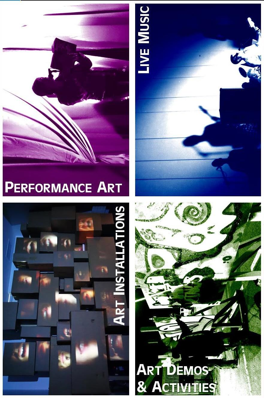 Art Installation, Performance Art, Demos and Live Music