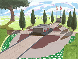 Tomb of the Unknown Soldier artists rendition