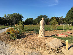 Willow's Rest Green Burial area statue