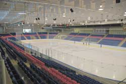 Gale Centre main rink showing the various seat options