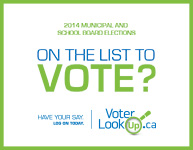 Get your name on the voter list for the upcoming election