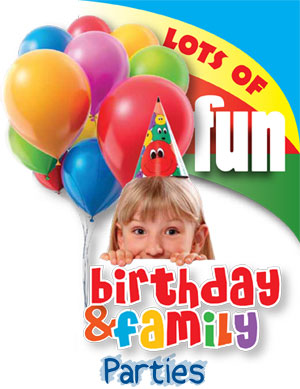 Birthday and Family Parties at the Gale Centre - Lots of Fun!