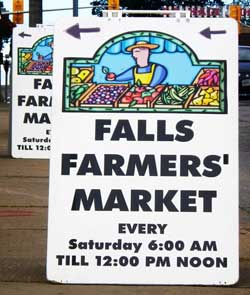 Niagara Falls Farmers Market Road Sign
