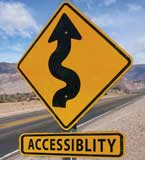 Accessibility Road Sign