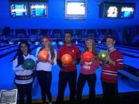 Bowl for Kids night with 5 MYAC members at the event