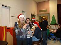 Volunteers at the children's Christmas party