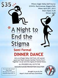 Dinner Dance event night poster