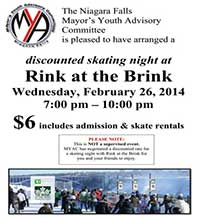 Rink at the Brink Skating event poster