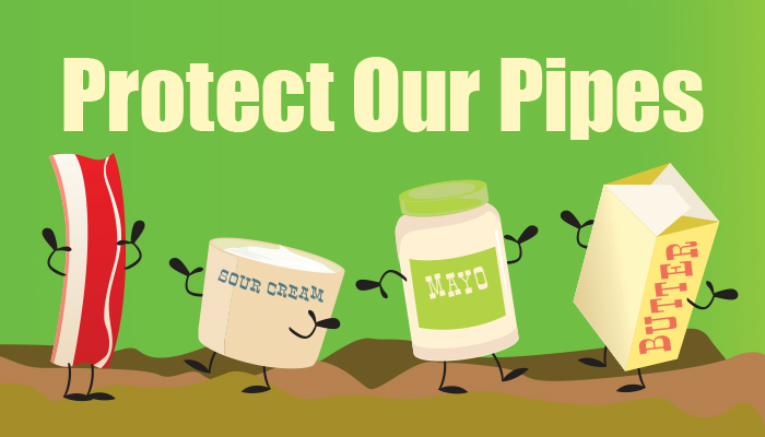 Protect our sewer pipes