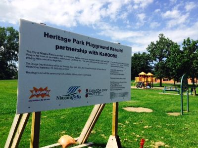 Heritage Park build sign
