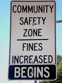 Community Safety Zone on Kalar Road and McLeod Road