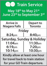 Go Train Schedule