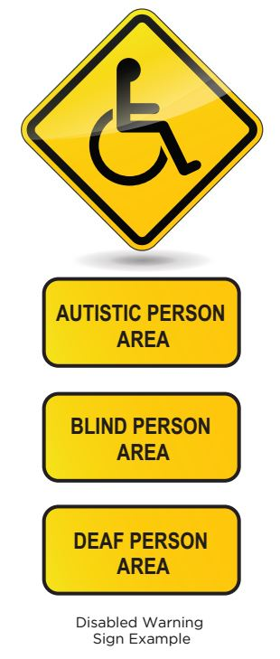 Disabled Warning Sign Sample